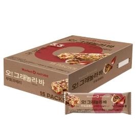 [원더배송] 오리온 마켓오네이처 무화과베리그래놀라바 30g 15입