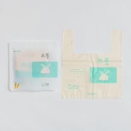 [60초쇼핑] 통째로 버리는 음식물쓰레기 다용도 봉지 쓰봉 1리터(20매) 3.5리터(15매)