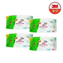 3M_미세먼지 베이직 물걸레 청소포 더블액션 표준형 25매X4