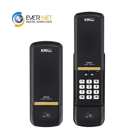 [에버넷] 에버넷 디지털 도어락 KM100-S / 카드키4개