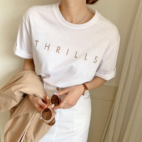 ⭐BEST 상품 할인⭐ 104423 릴즈 레터링 반팔 티셔츠 [1+1]