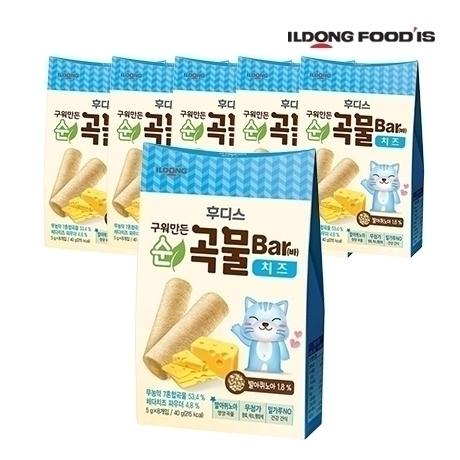 [일동후디스] 구워만든 순곡물바 치즈 40g X 6개