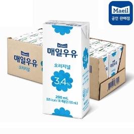 [매일우유] 매일멸균 흰우유 200ml x 24팩