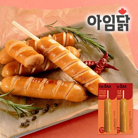맛있는 닭가슴살 매운후랑크소시지꼬치 60g 1+1팩