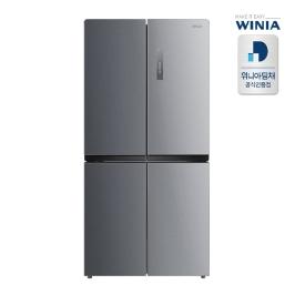 [디지털위크] [최종혜택가 826,500원] 공식인증점 위니아 중형냉장고 WRB480DMS 방문설치 폐가전수거