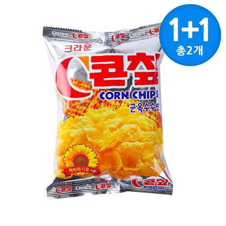 선착순_D69_크라운 콘칩 군옥수수맛 70g X 2