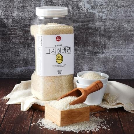 [두보식품 당일도정] 고시히카리 쌀 2kg 페트 5분도/7분도/9분도