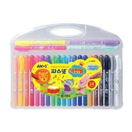 아모스 파스넷 색연필 24색 그림 색칠 미술놀이