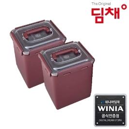 위니아딤채 김치냉장고 전용용기 6.3L 투명EZ용기 2개입 (도번 5985)