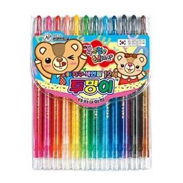 지구화학 투명이 색연필 12색 샤프식색연필 색칠놀이