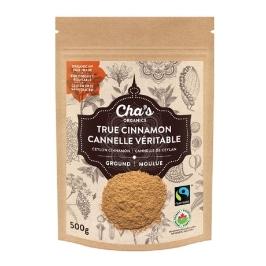 [해외배송] 유기농 트루 실론 시나몬가루 시나몬물 대용량 (Chas Organic Cinnamon Powder 500g)
