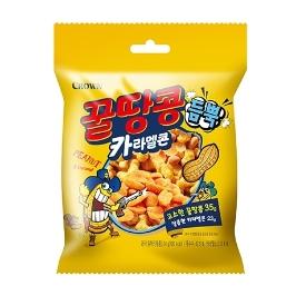 [원더배송] 크라운 꿀땅콩 카라멜콘 10개