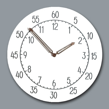 [수요잡화상점] 무소음 교육용벽시계 기본형_9종