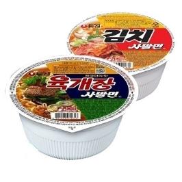 [더싸다특가] 농심 육개장 사발면 12컵+김치 사발면 6컵