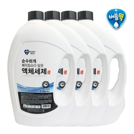순수하게 액체세제 3.1kg x 4개 /세탁세제 세제(행)