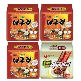 [원더배송] 너너너짜 20봉 (얼큰한 너구리 15봉+짜파게티 5봉)