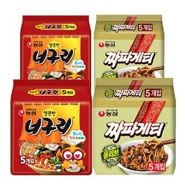 [원더배송] 짜파구리 20봉 (얼큰한 너구리 10봉+짜파게티 10봉)
