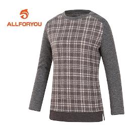 [올포유] 여성 체크포인트 라운드 긴팔 티셔츠_AWTRG8151-190