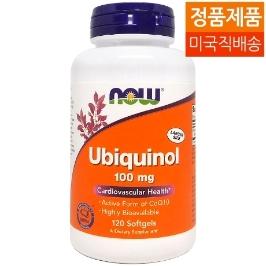 [해외배송] 나우푸드 유비퀴놀 Ubiquinol 100mg 120젤