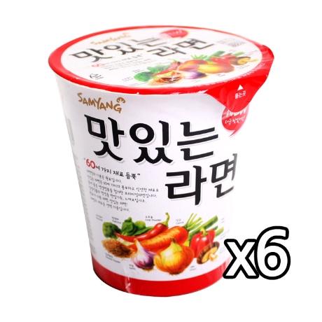 컵)삼양맛있는라면소컵 6개