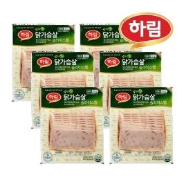하림 밥 싸먹는 닭가슴살 슬라이스 햄 43g x 6봉