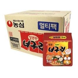 [원더배송] 농심 얼큰한 너구리 40입 x 5박스 (총 200봉)