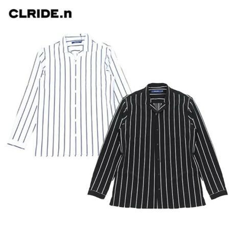 롯데백화점 클라이드 남성 폴리 스트라이프 셔츠(FICSH351M)