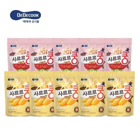 [베베쿡] 초특가(생유산균 투입)사르르쿵 10봉 (바나나 5봉 / 딸기 5봉)
