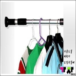 가자데코 압축봉 옷걸이 행거AL120(78~125cm)