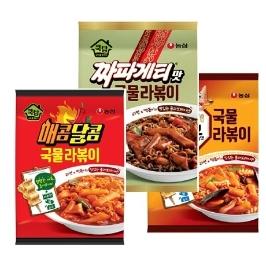 [더싸다특가] 농심 쿡탐 라볶이 3종 세트 (매콤달콤국물라볶이+짜파게티맛국물라볶이+오징어짬뽕맛국물라볶이)