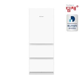 [위니아딤채] 딤채 스탠드형 김치냉장고 화이트 전면강화유리 EDT33DFGYWT (상품평작성-고급식기증정)