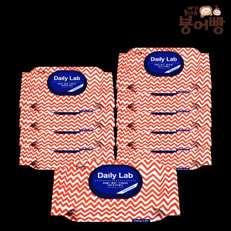 붕어빵 아기물티슈 데일리랩 해피니스 캡형 엠보 100매 x 10팩