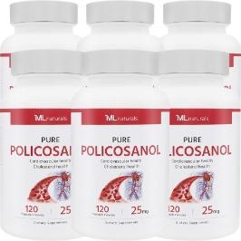 [해외배송]무료배송 6병 마이라이프 폴리코사놀 25mg 120캡슐