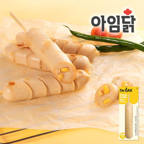 ★신제품★맛있는 닭가슴살 옥수수 소시지 꼬치 60g 1+1+1+1팩